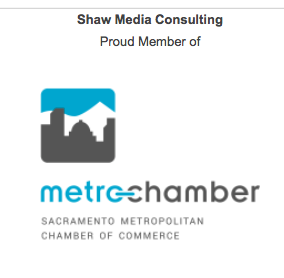 Shaw Media Consulting Is a proud member of the Sacramento Metropolitan Chamber of Commerce.