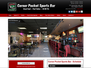 Corner Pocket Sports Bar Website - After Image