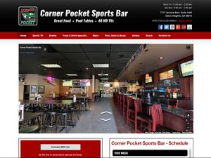 Corner Pocket Sports Bar Website - After Image