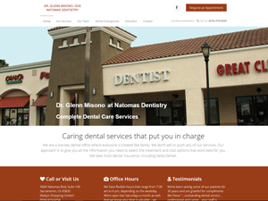 Natomas Dentistry Dr. Glen Misono Website - After Image