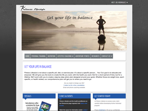 Fitness Lifestyles Website - After Image