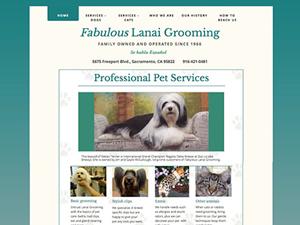 Fabulous Lanai Grooming Salon Website - After Image