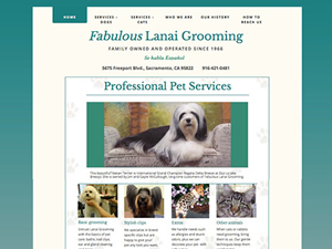 Fabulous Lanai Grooming Salon Website - After Image