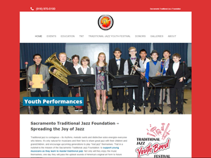 Sacramento Traditional Jazz Society Foundation Website - After Image