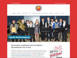 Sacramento Traditional Jazz Society Foundation Website - After Image