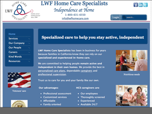 LWF Home Care Services Website - After Image