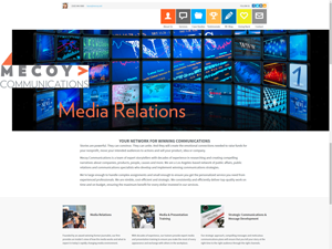 Mecoy Communications Website - After Image