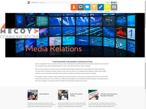Mecoy Communications Website - After Image
